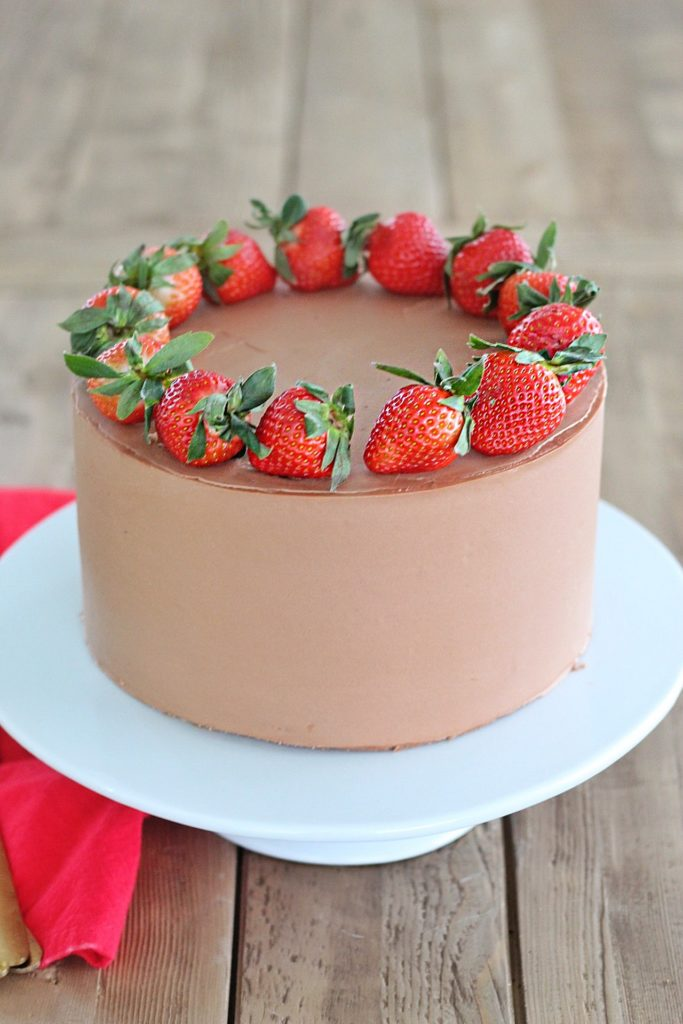 Chocolate Strawberry Nutella Valentine cake