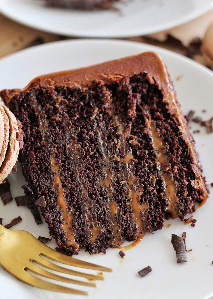 rich delicious chocolate buttercream cakebycourtney.com