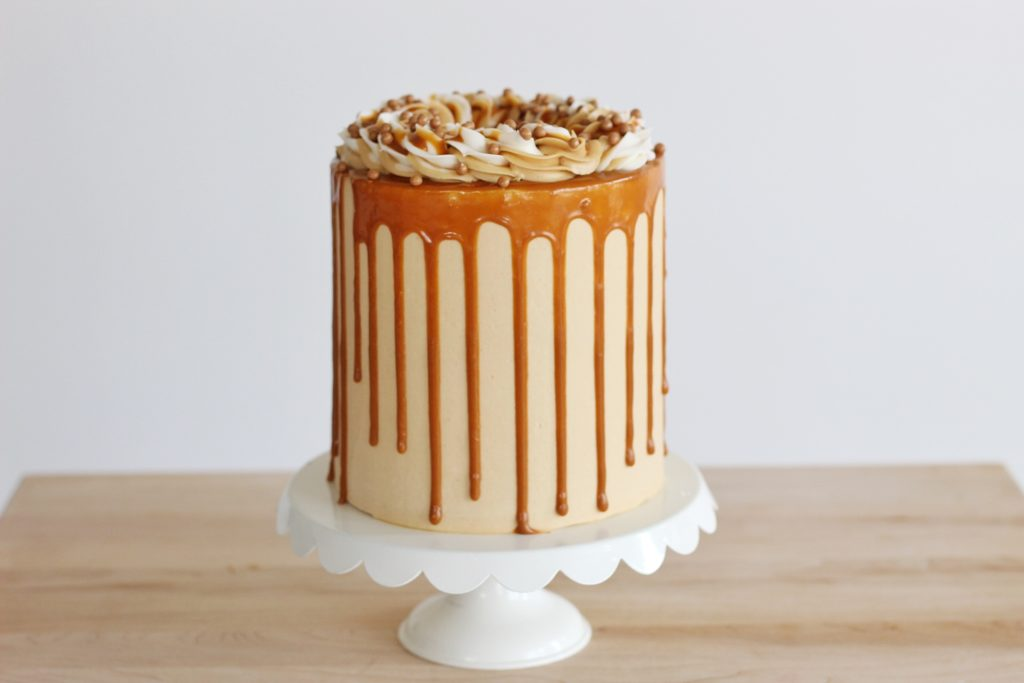 Banana Peanut Butter Caramel Cake | Cake by Courtney