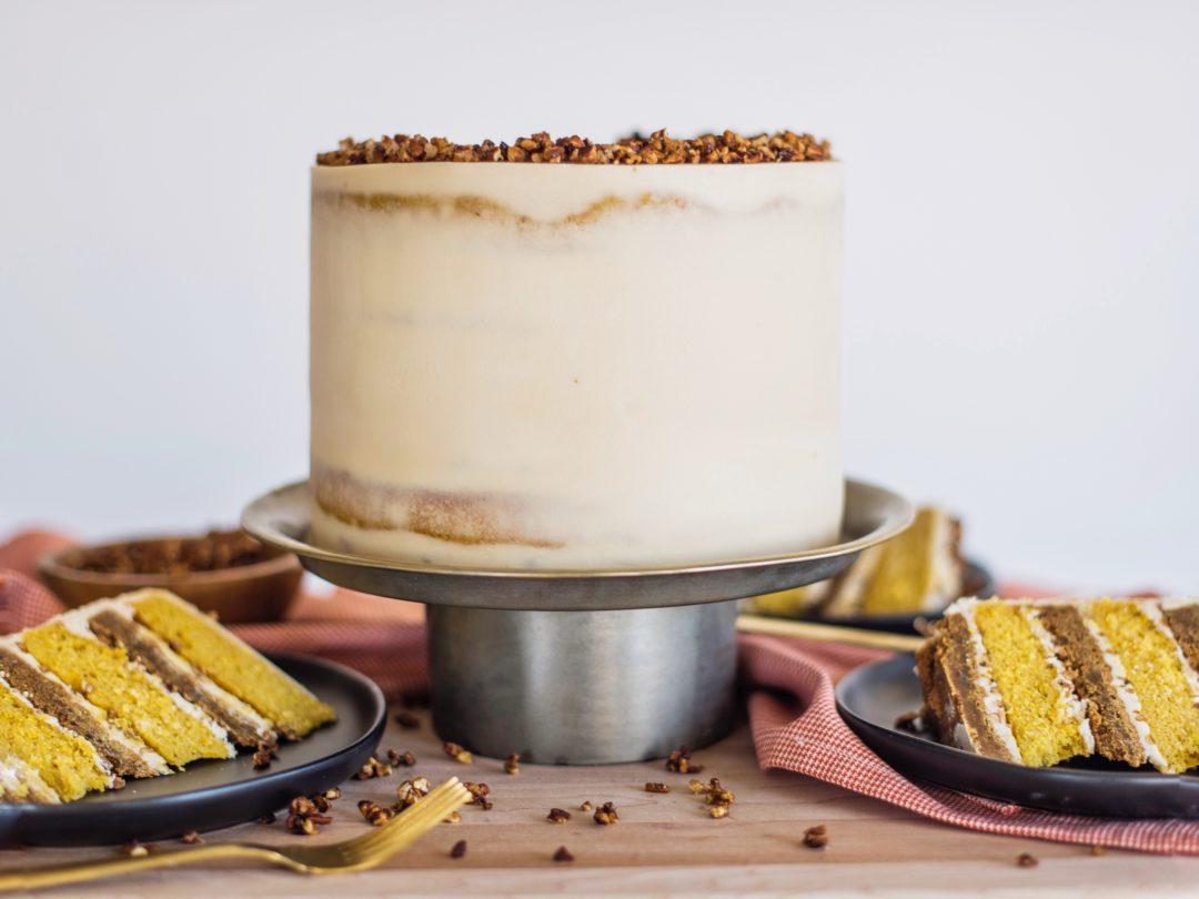 Butternut Squash Gingersnap Cake #cakebycourtney #butternutsquashgingersnapcake #fallcake #thanksgivingcake #cake #easyfallcake