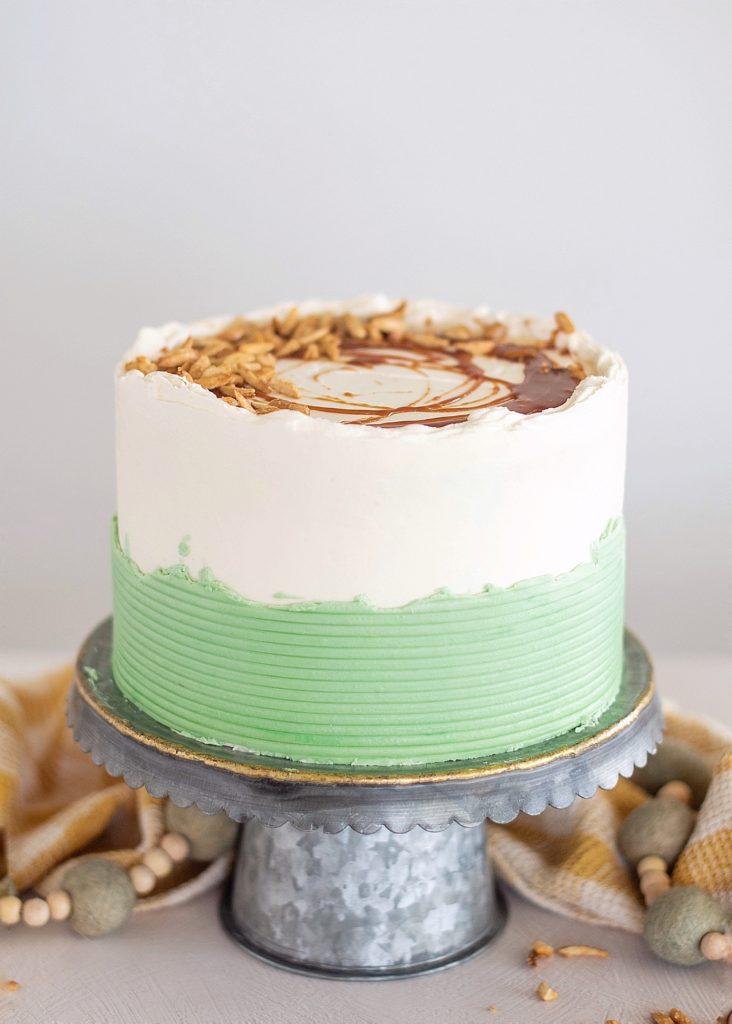 Apple Almond Caramel Cake with Almond White Chocolate Buttercream | Cake by Courtney