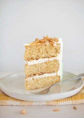 Apple Almond Caramel Cake