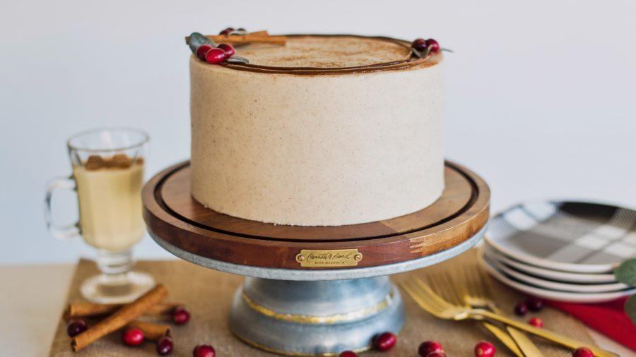 Eggnog Cake #cakebycourtney #eggnog #eggnogcake #spicecake
