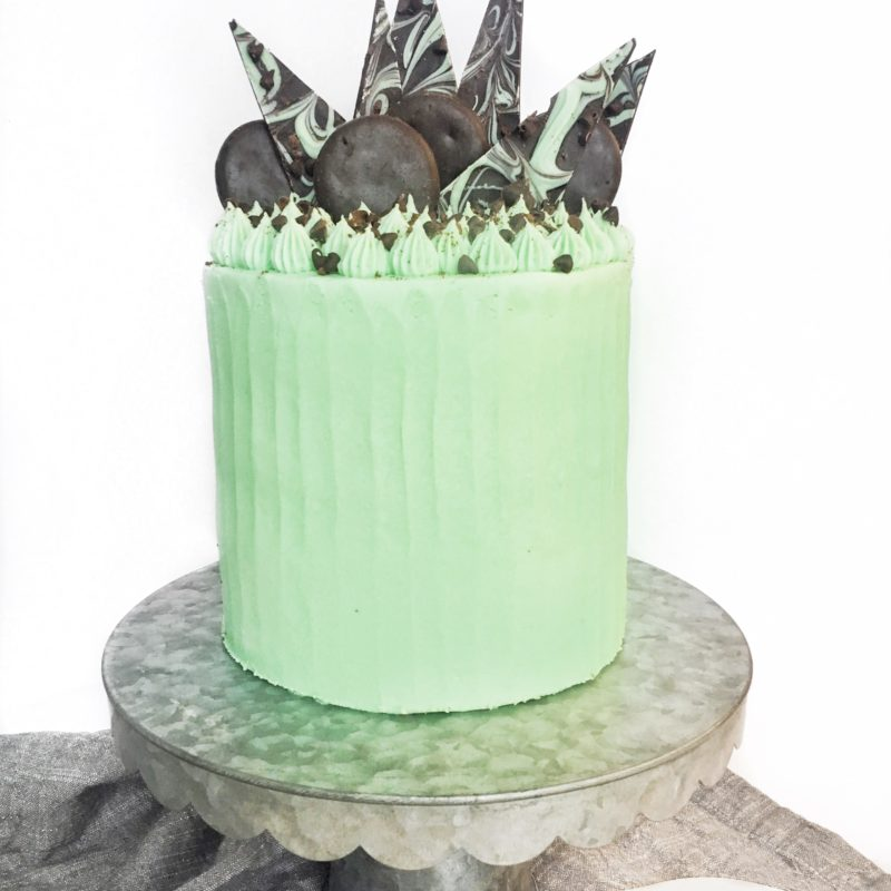 Mint Chocolate Chip and Cookies Cake | Cake by Courtney
