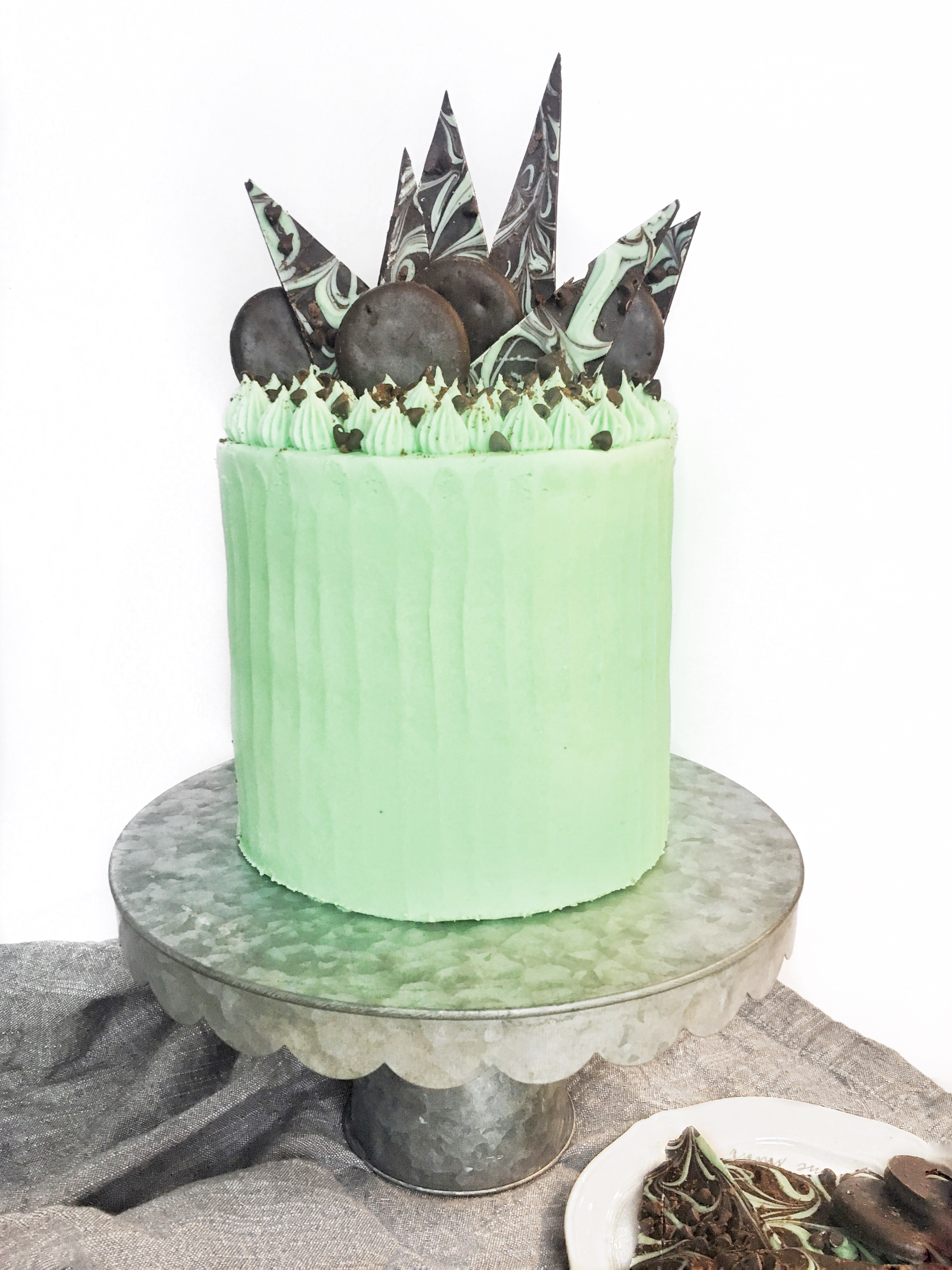 Mint Chocolate Chip And Cookies Cake Cake By Courtney