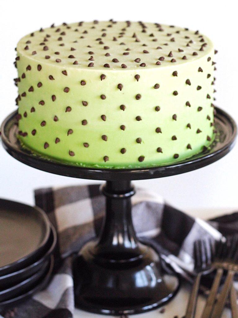 Mint Chocolate Chip Cake | Cake by Courtney