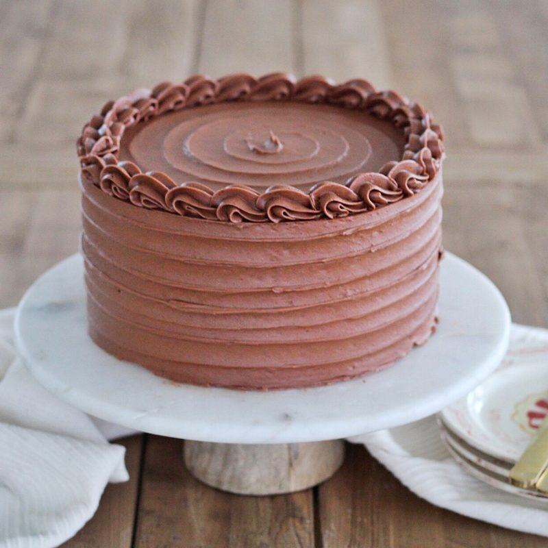 Red Velvet Cake with Chocolate Sour Cream Frosting