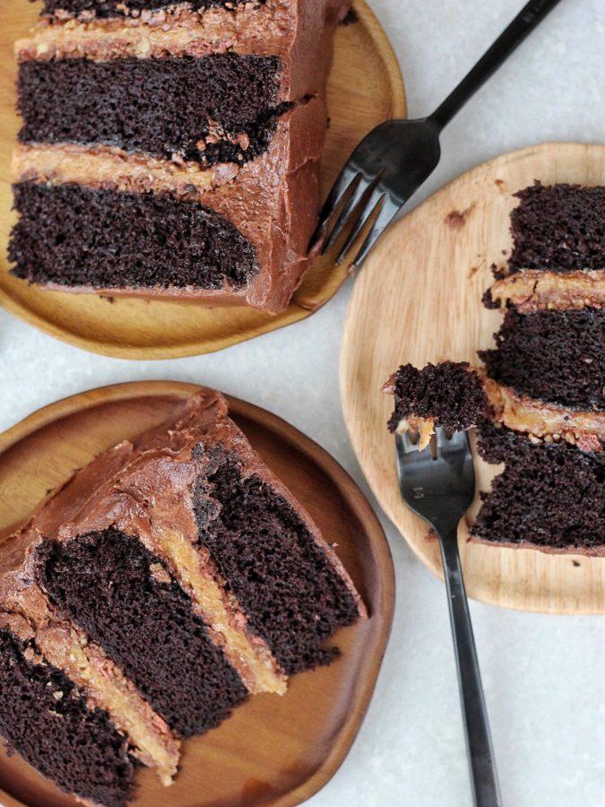 German Chocolate Cake #cakebycourtney #chocolatecake #germanchocolatecake