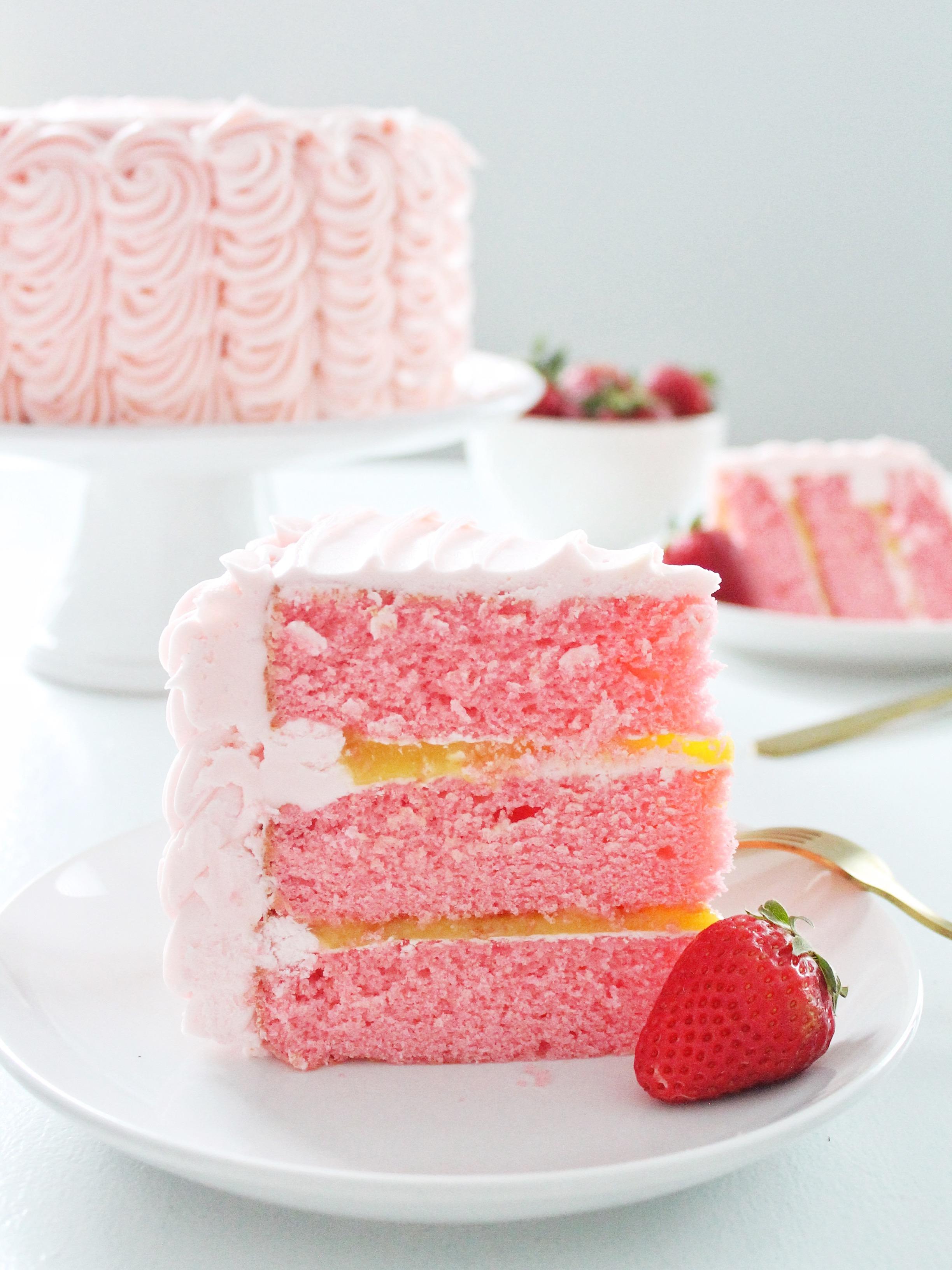 Strawberry Lemonade Cake Mix Bars