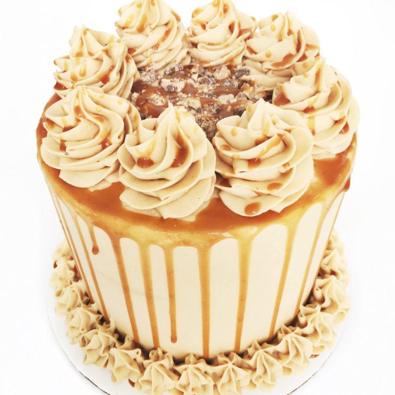 Banana Peanut Butter Caramel Cake | Cake by Courtney