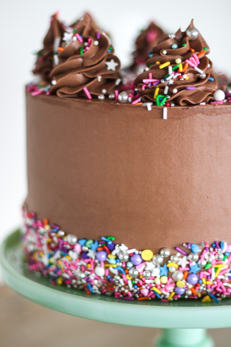 Gold Cake With Chocolate Frosting