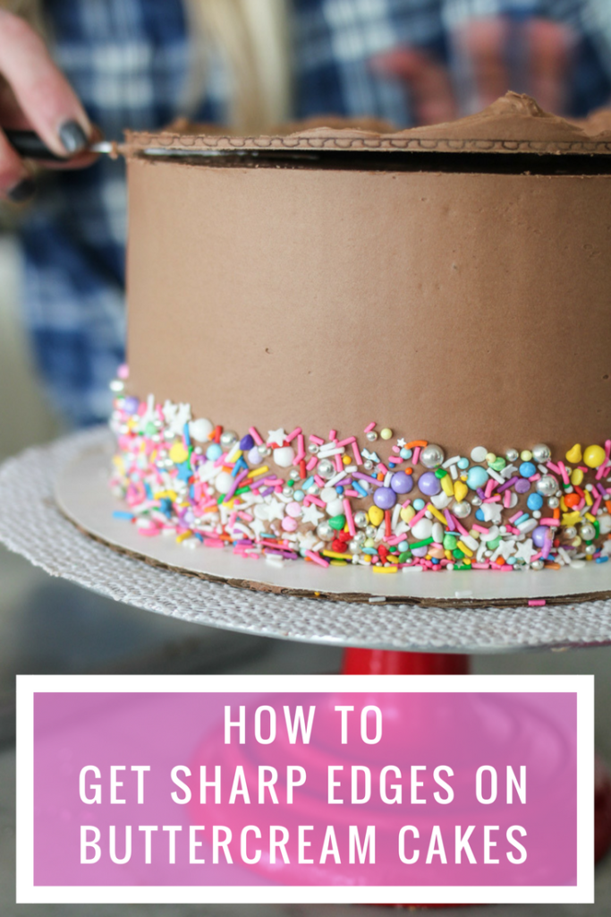 How to Get a Sharp Edge on Your Buttercream Frosted Cake | Cake by Courtney