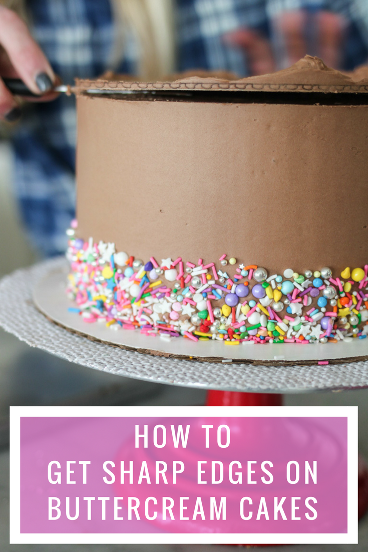 How To Get A Sharp Edge On Your Buttercream Frosted Cake
