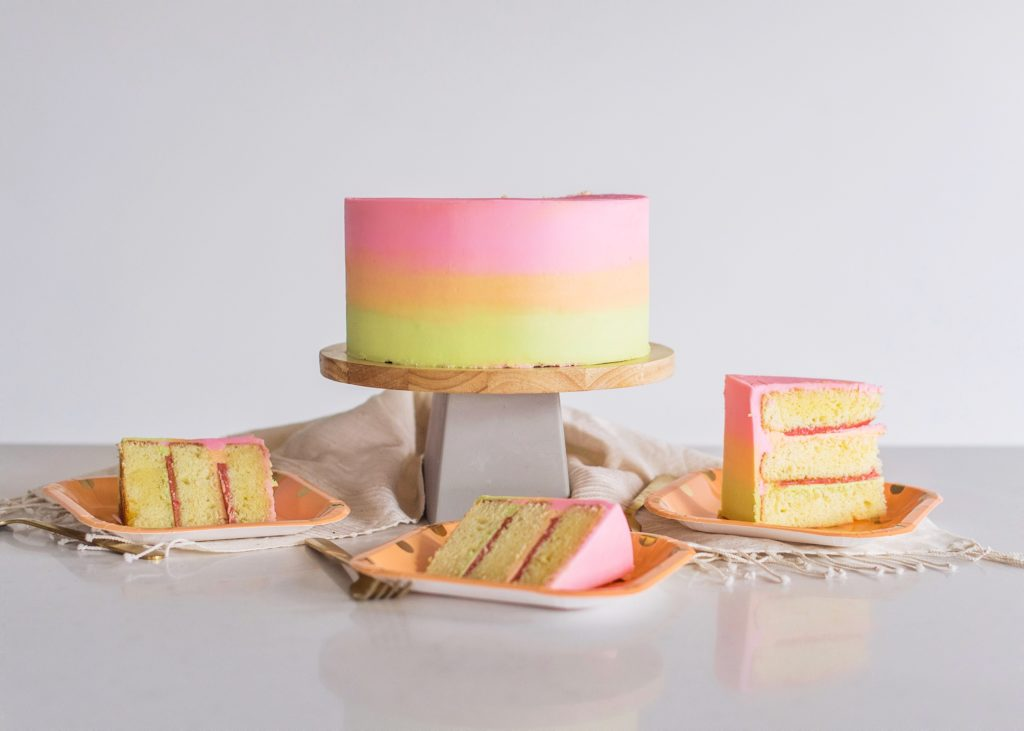 Rainbow Sherbet Cake | Cake by Courtney