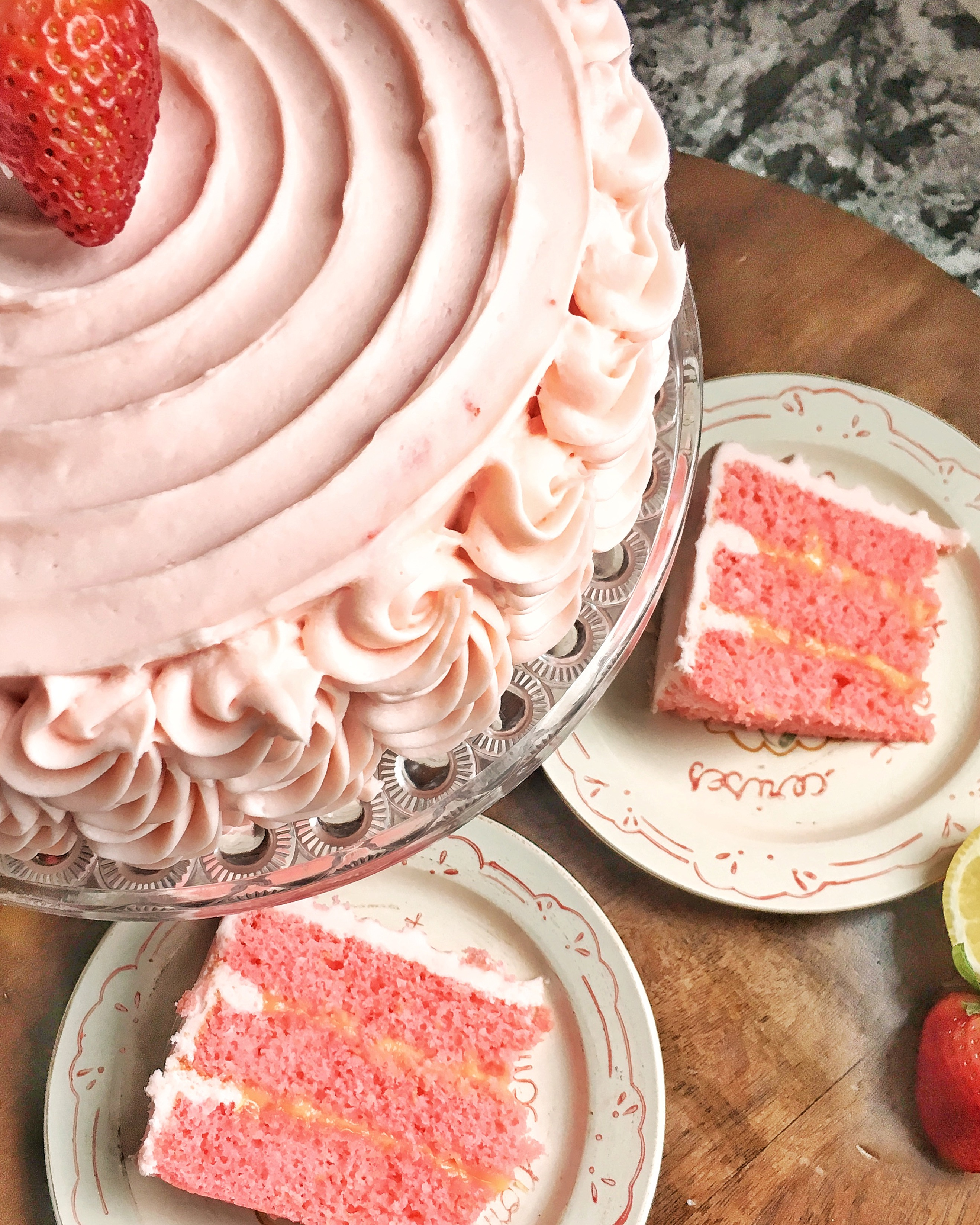 Strawberry Lemonade Cake Cake By Courtney
