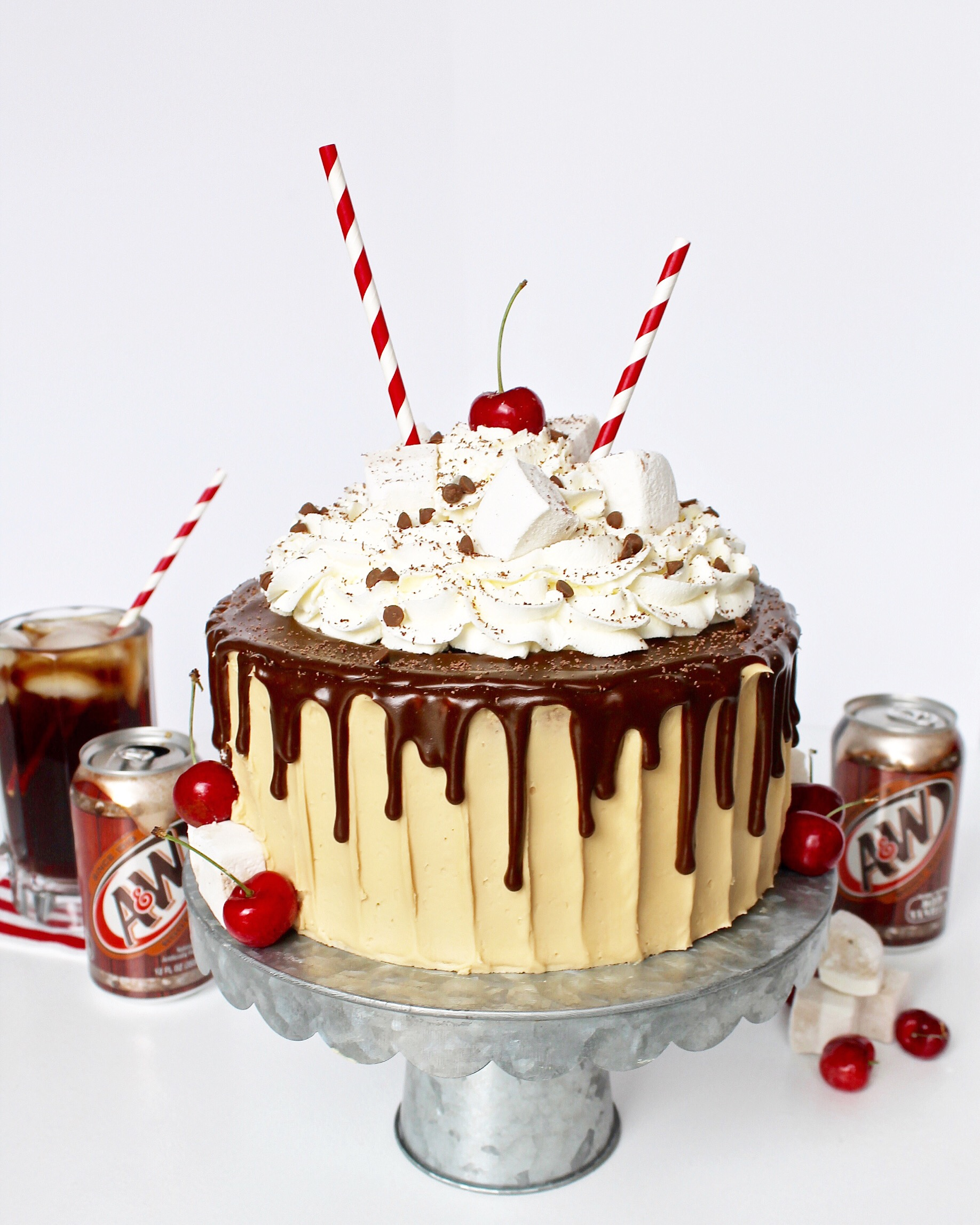 Root Beer Float Cake Cake by Courtney
