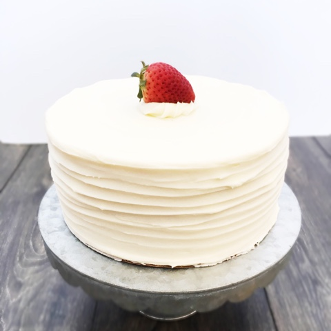 Strawberry Cake with Cream Cheese Frosting | Cake by Courtney