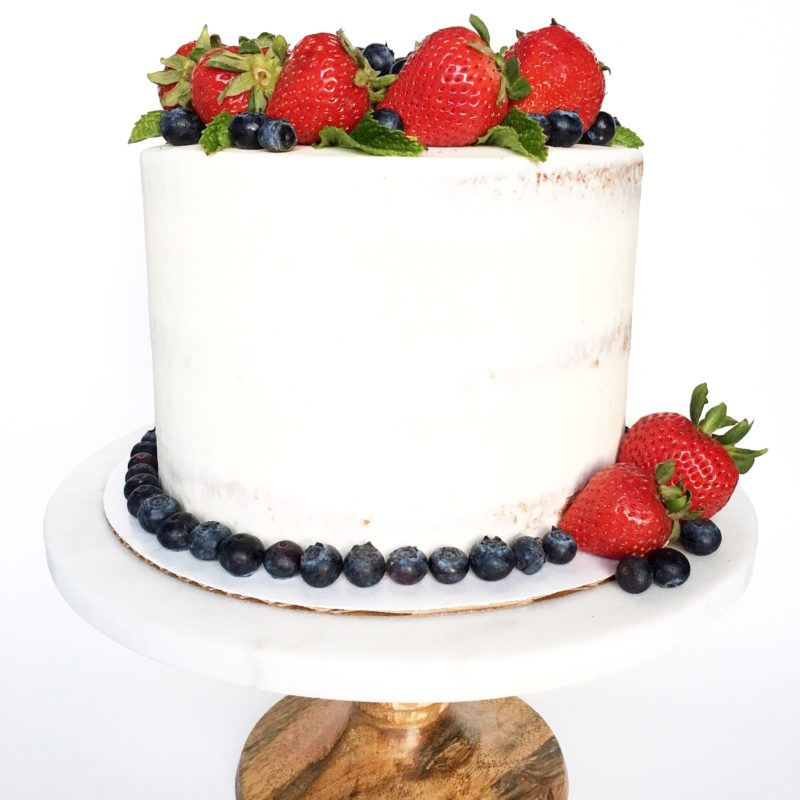 Strawberry Shortcake with White Chocolate Frosting | Cake by Courtney