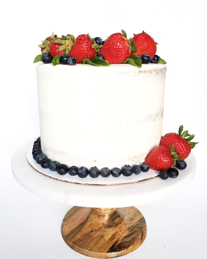 Strawberry Shortcake with White Chocolate Frosting | Cake by Courtney