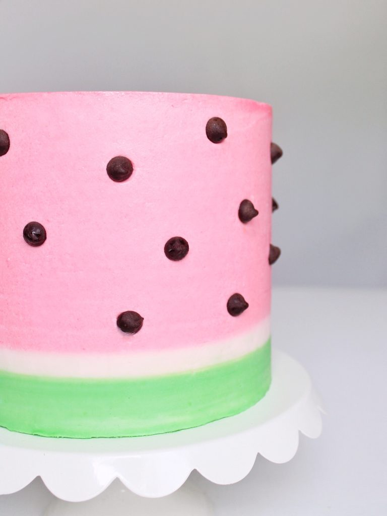 Watermelon Cake with Lime Curd | Cake by Courtney