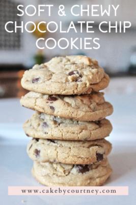 Chewy chocolate chip cookies www.cakebycourtney.com