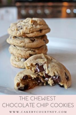 Easy chocolate chip cookies. www.cakebycourtney.com