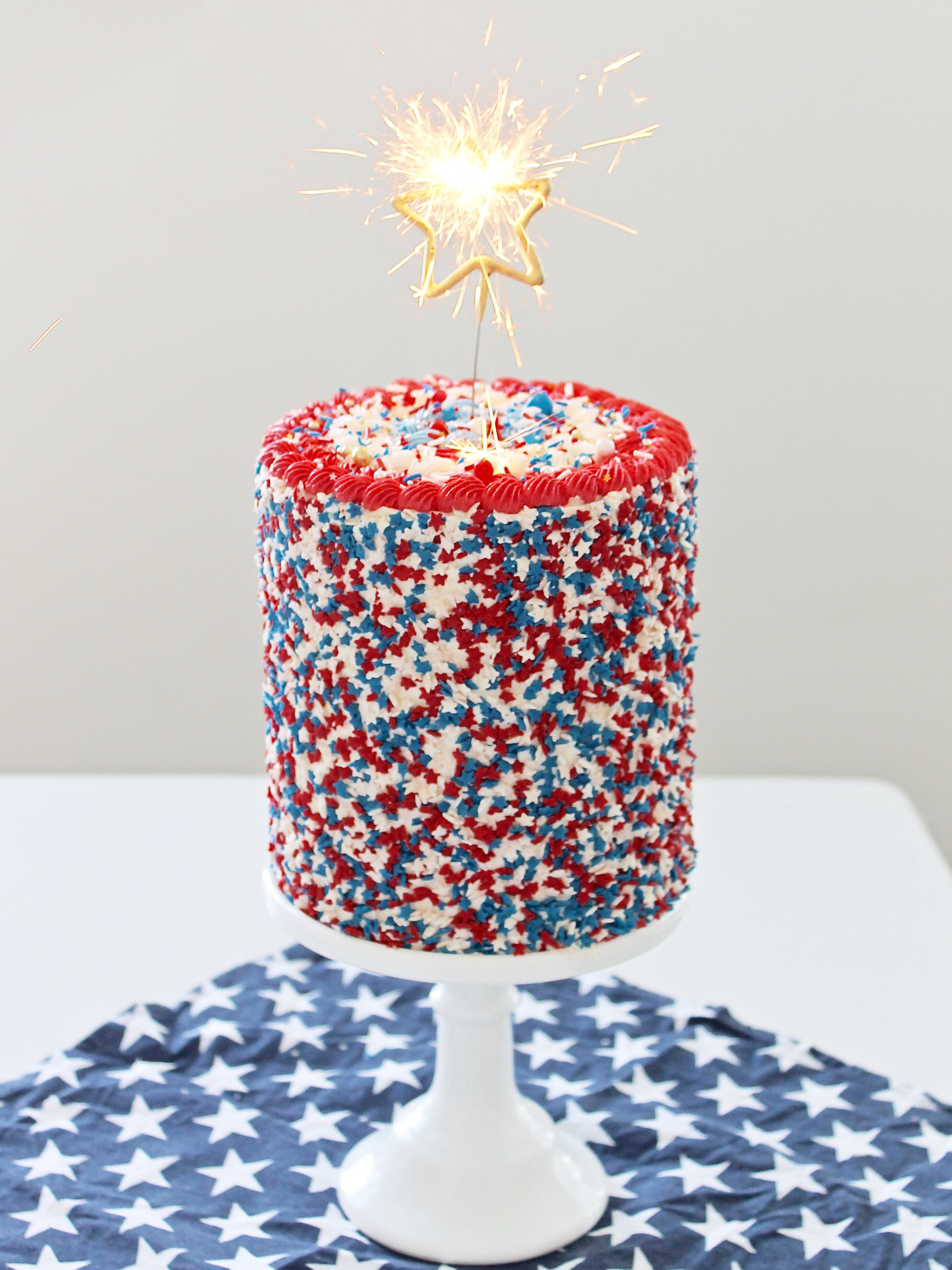 Peachy 4Th Of July Funfetti Cake Cake By Courtney Funny Birthday Cards Online Alyptdamsfinfo