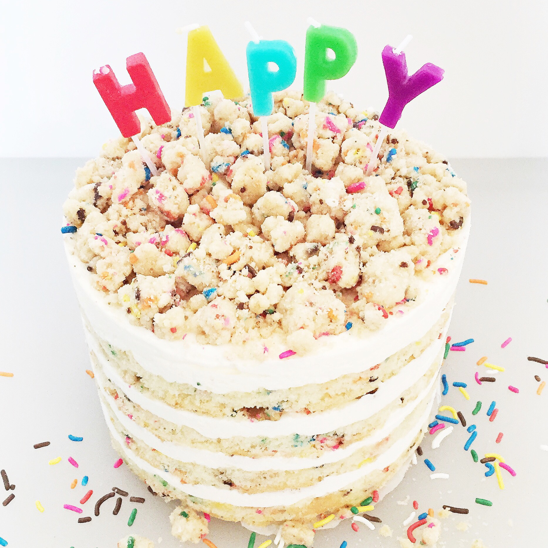 Astonishing Momofuku Milk Bar Birthday Cake Cake By Courtney Personalised Birthday Cards Veneteletsinfo