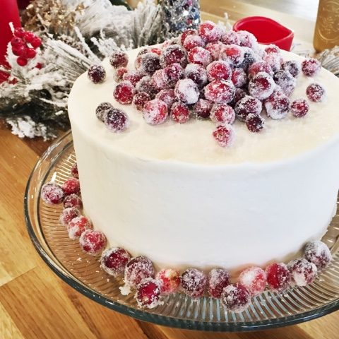 White Chocolate Cranberry Cake - Cake by Courtney