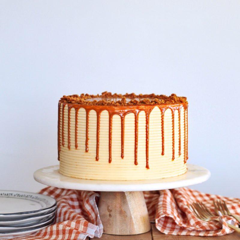 Banana Caramel Biscoff Cake | Cake by Courtney