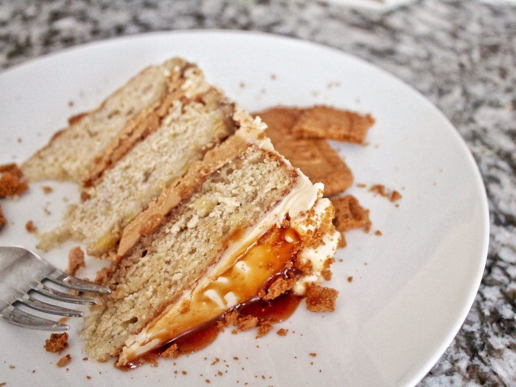 Caramel Banana Biscoff Cake | Cake by Courtney