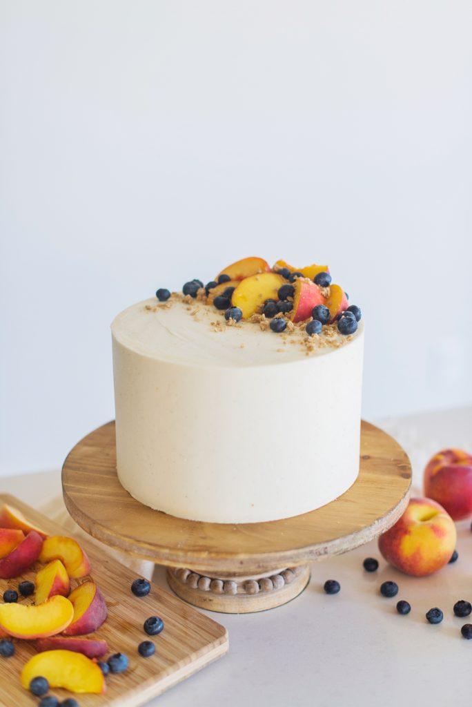 Peach Crisp Cake | Cake by Courtney