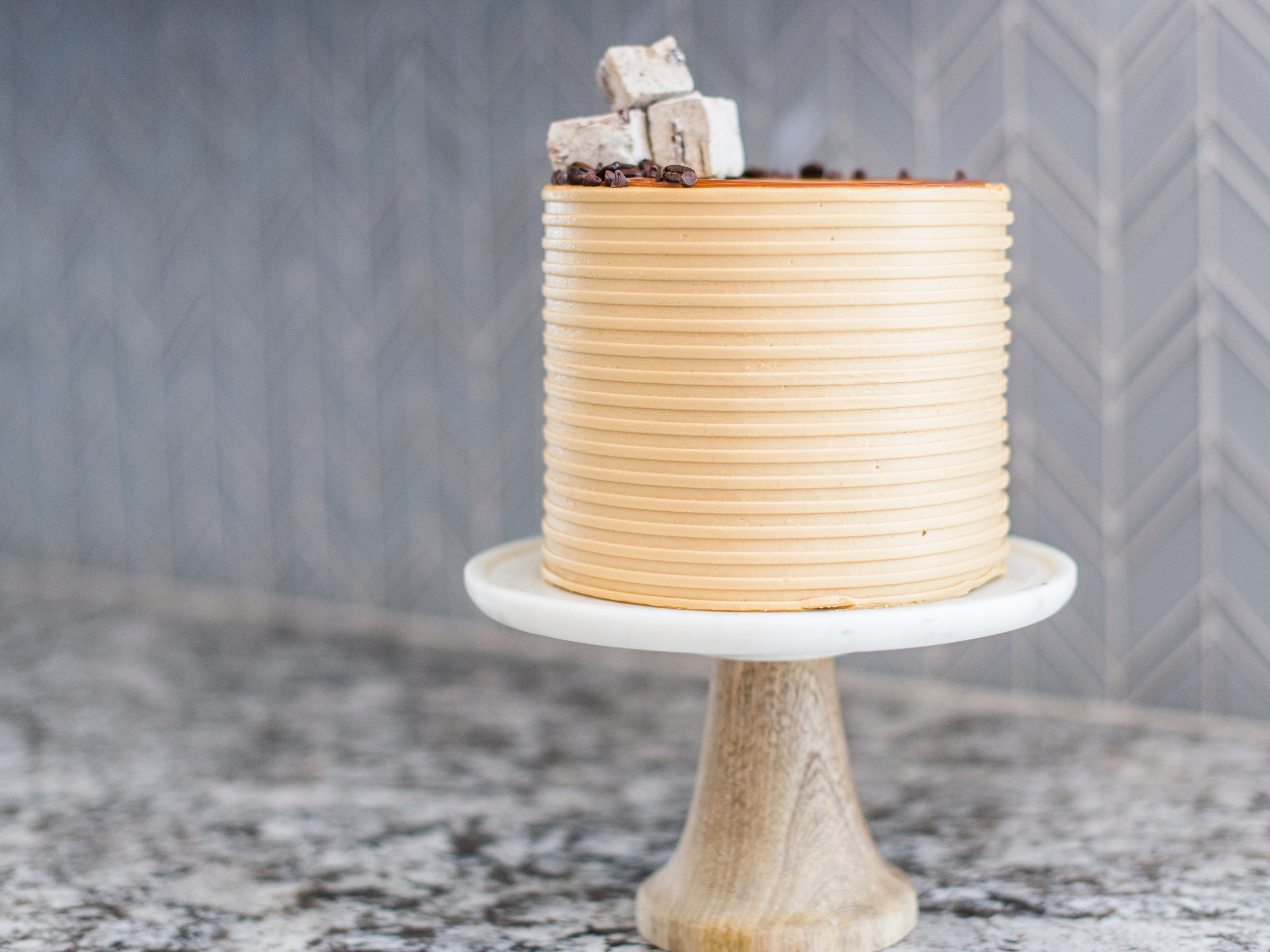 Calling all coffee lovers! This Mocha Chip Cake is for you!