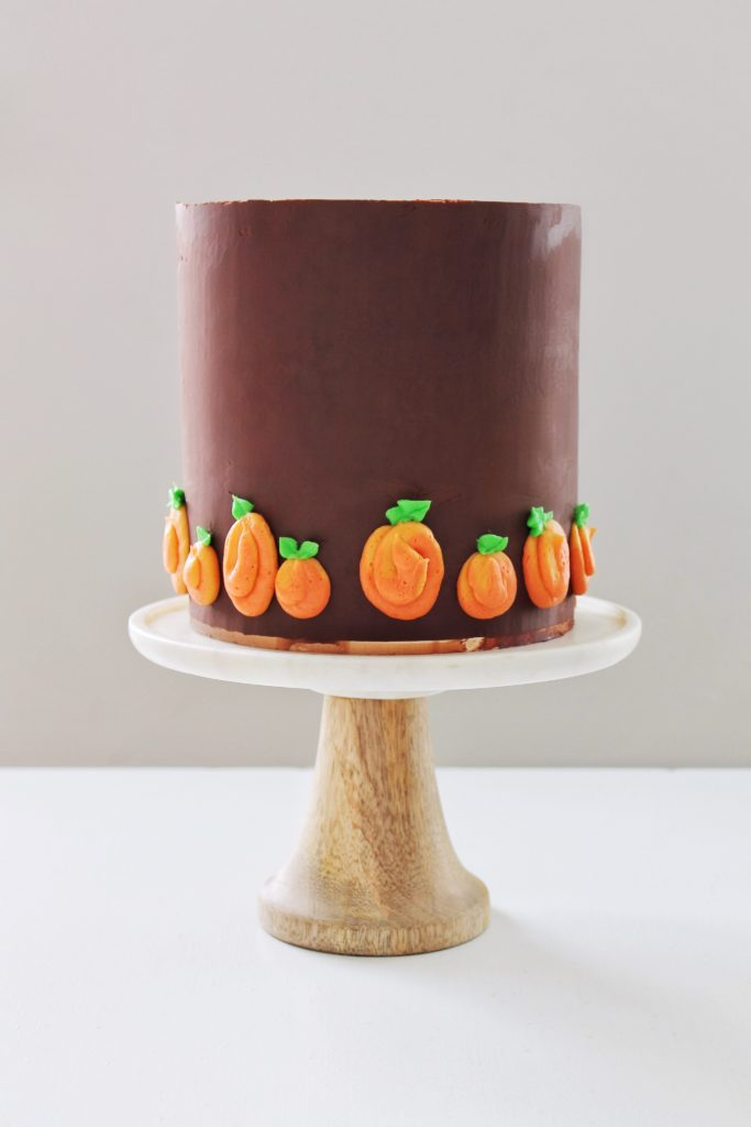 Pumpkin Cake with Maple Cinnamon Cheesecake and Chocolate Ganache | Cake by Courtney