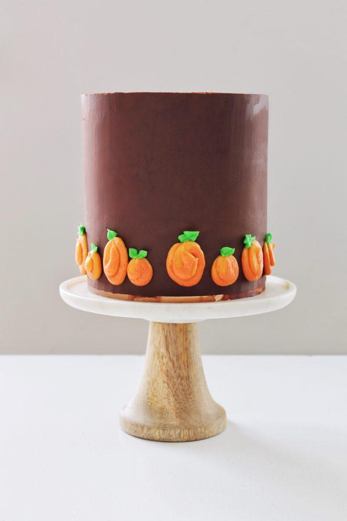 Pumpkin Cake with Maple Cinnamon Cheesecake and Chocolate Ganache | Cake by Courtney