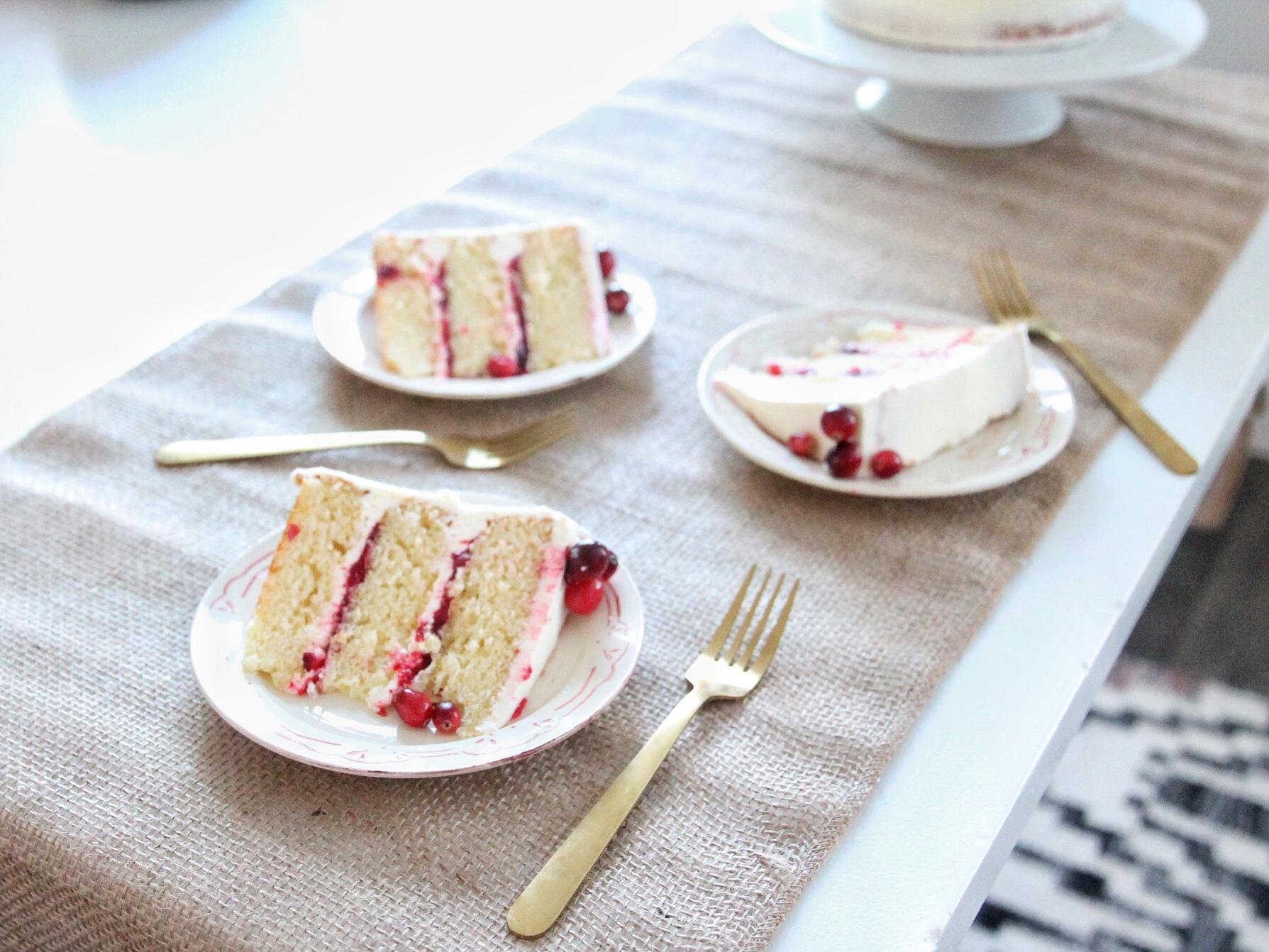 Vanilla Simple Syrup On Dense Cake