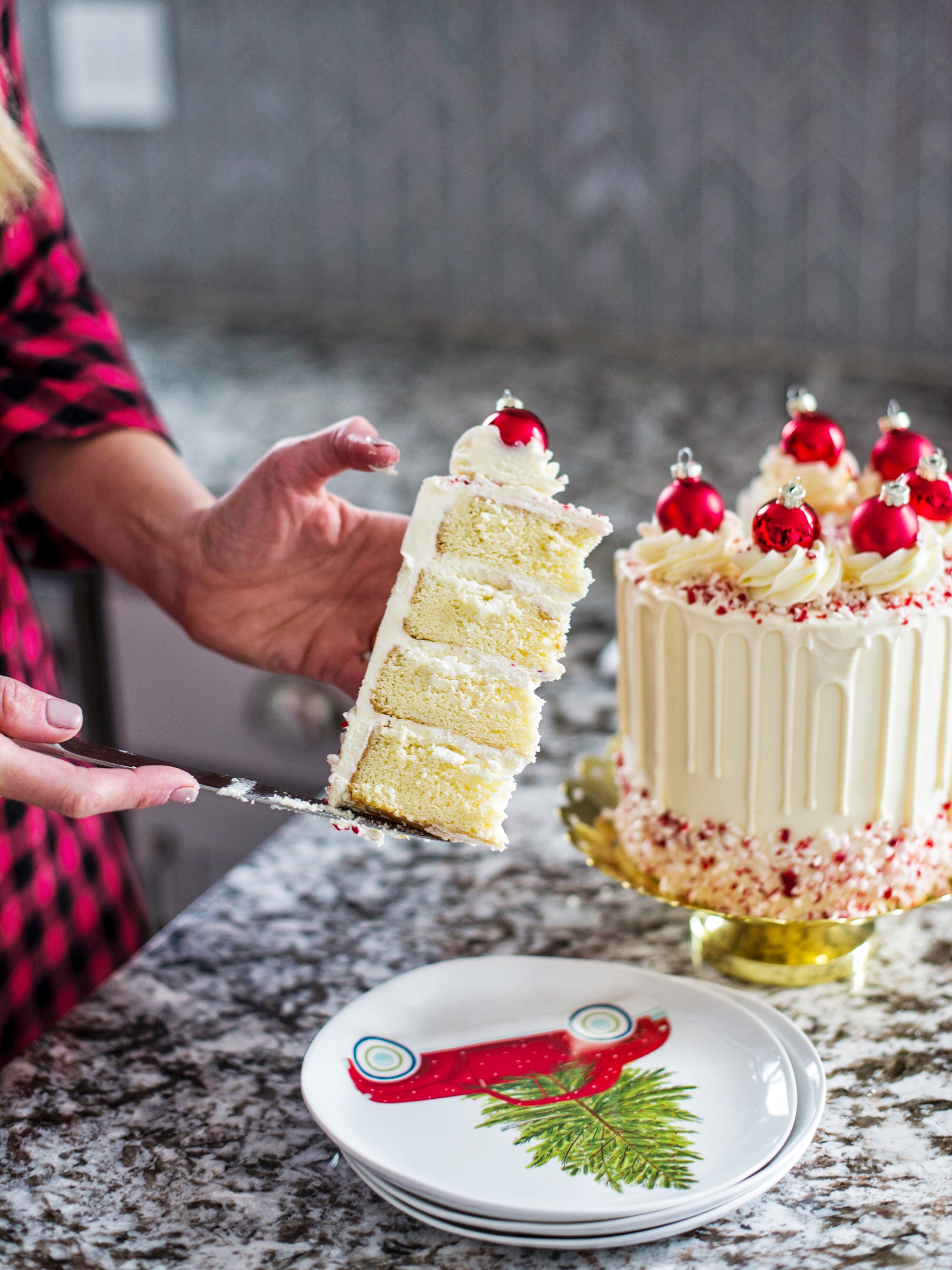 White Chocolate Peppermint Cake Cake by Courtney