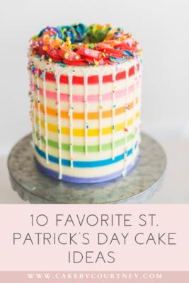 10 Favorite St. Patrick's Day Cake Ideas www.cakebycourtney.com