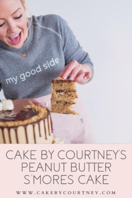 Cake By Courtney's Peanut Butter S'mores Cake www.cakebycourtney.com