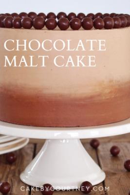Chocolate Malt Cake www.cakebycourtney.com
