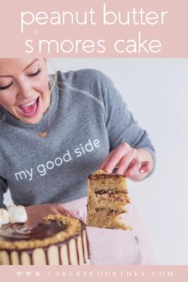 Peanut Butter S'mores Cake www.cakebycourtney.com