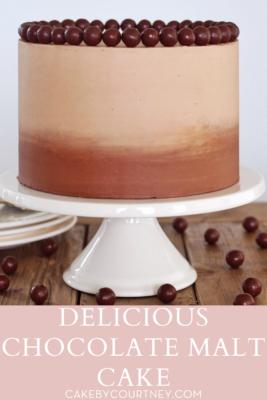 Delicious Chocolate Malt Cake www.cakebycourtney.com