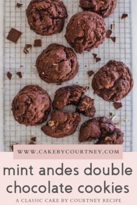 mint andes double chocolate cookies www.cakebycourtney.com