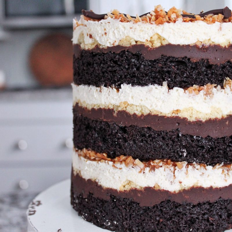 Samoa Girl Scout Cookie Cake | Cake by Courtney