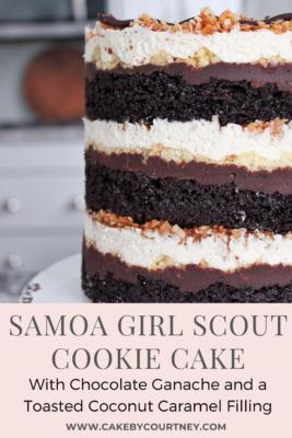 Samoa Girl Scout Cookie Cake www.CakeByCourtney.com