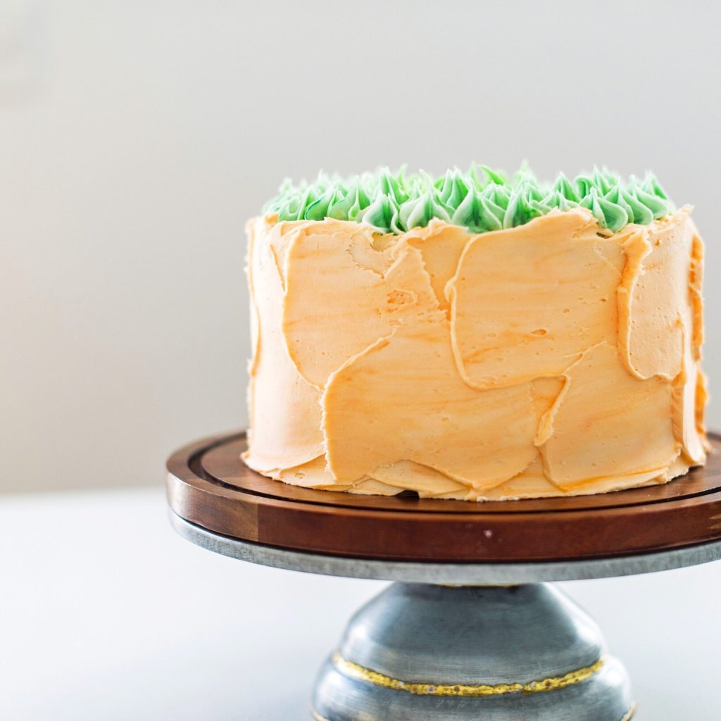 Carrot Apricot Cake with White Chocolate Pretzel Crack Filling | Cake by Courtney