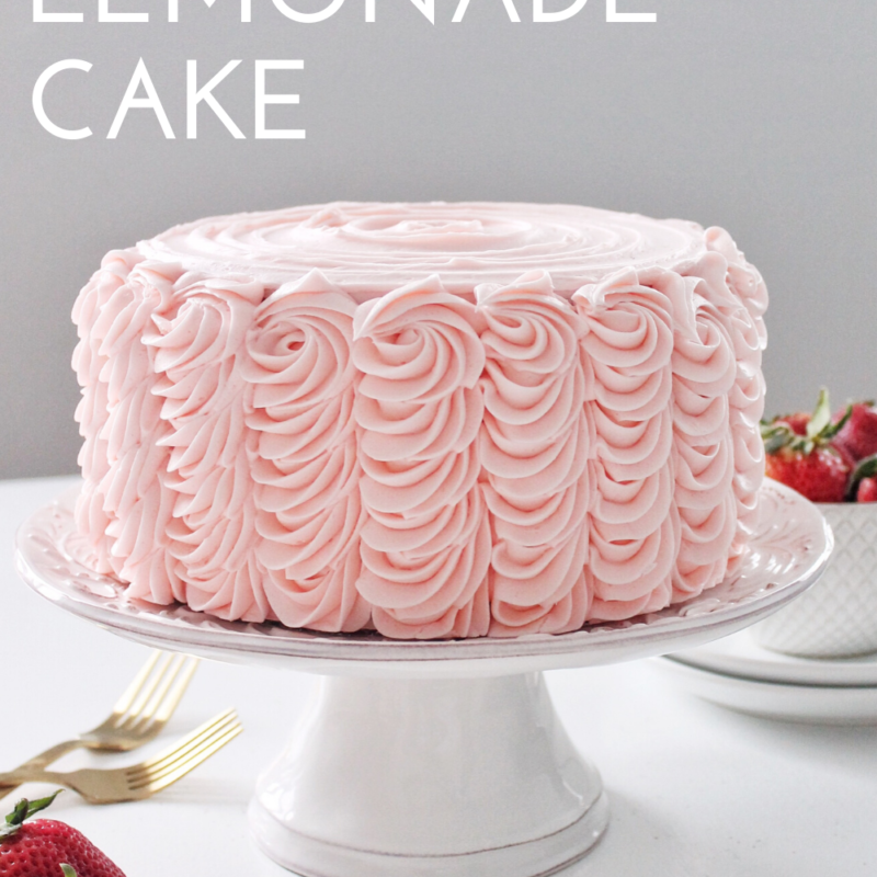 Admirable Cake By Courtney Strawberry Lemonade Cake Birthday Cards Printable Riciscafe Filternl