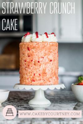 Strawberry Crunch Cake Recipe by www.CakeByCourtney.com