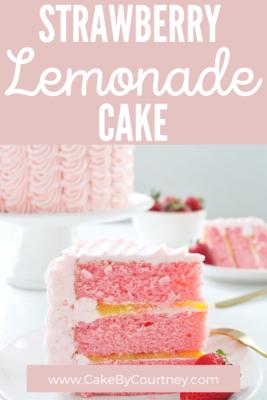 Strawberry Lemonade Cake www.cakebycourtney.com