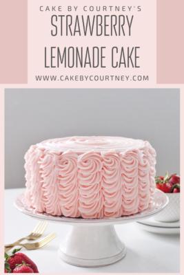 Strawberry Lemonade Cake from Cake By Courtney www.cakebycourtney.com